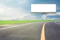 Κενός πίνακας διαφημίσεων για τη διαφήμισή σας με το διάστημα για το κείμενο στο ro στοκ εικόνα