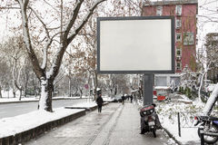 Κενός πίνακας διαφημίσεων διαφήμισης στην οδό πόλεων Στοκ Φωτογραφίες
