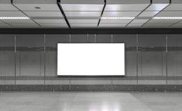 Κενός πίνακας διαφημίσεων στον υπόγειο Χρήσιμος για τη διαφήμισή σας Στοκ φωτογραφίες με δικαίωμα ελεύθερης χρήσης