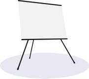 Κενός πίνακας παρουσίασης flipchart Στοκ Φωτογραφίες