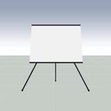 Κενός πίνακας παρουσίασης flipchart ελεύθερη απεικόνιση δικαιώματος