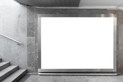 Κενός πίνακας διαφημίσεων στην αίθουσα Στοκ Φωτογραφία