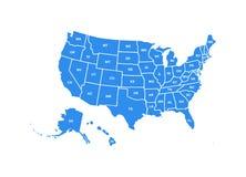Κενός παρόμοιος ΑΜΕΡΙΚΑΝΙΚΟΣ χάρτης που απομονώνεται στο άσπρο υπόβαθρο Χώρα των Ηνωμένων Πολιτειών της Αμερικής ΗΠΑ Διανυσματικό ελεύθερη απεικόνιση δικαιώματος