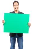 Κενός πράσινος πίνακας εκμετάλλευσης ατόμων Στοκ Φωτογραφία