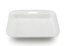 Κενός πλαστικός δίσκος πολυστυρολίου τροφίμων Στοκ εικόνα με δικαίωμα ελεύθερης χρήσης