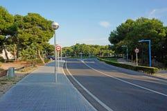 Κενός δρόμος οδών χωρίς ανθρώπους Στοκ Εικόνες