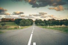 κενός δρόμος χωρών Στοκ Εικόνες