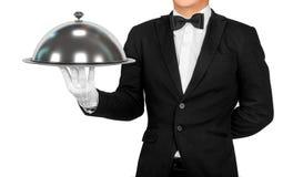 κενός σερβιτόρος δίσκων &eps Στοκ φωτογραφία με δικαίωμα ελεύθερης χρήσης