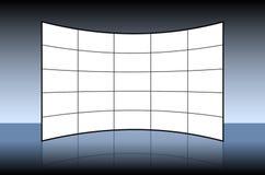 Κενός τηλεοπτικός τοίχος διανυσματική απεικόνιση