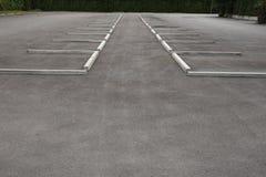 Κενός υπαίθριος χώρος στάθμευσης Στοκ Φωτογραφία