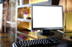 Κενός υπολογιστής γραφείου Στοκ Εικόνες