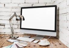 Κενός υπολογιστής οθόνης στοκ φωτογραφία με δικαίωμα ελεύθερης χρήσης