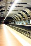 κενός υπόγειος μετρό Στοκ Εικόνα