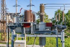 Κενός υψηλής τάσεως ηλεκτρικός εξοπλισμός Στοκ φωτογραφίες με δικαίωμα ελεύθερης χρήσης