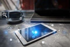 Κενός φραγμός αναζήτησης Ιστοχώρος, URL Επιχείρηση, Διαδίκτυο και έννοια τεχνολογίας Στοκ Φωτογραφίες
