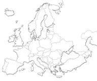 κενός χάρτης της Ευρώπης ελεύθερη απεικόνιση δικαιώματος
