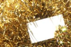 κενός χρυσός καρτών ανασκό& Στοκ φωτογραφία με δικαίωμα ελεύθερης χρήσης