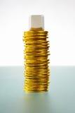 κενός χρυσός νομισμάτων ο&mu Στοκ Εικόνες
