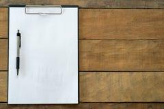 κενός χώρος εργασίας χαρτικών εγγράφου γραφείων Στοκ φωτογραφίες με δικαίωμα ελεύθερης χρήσης