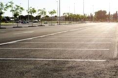 Κενός χώρος στάθμευσης για τα αυτοκίνητα Στοκ Φωτογραφία