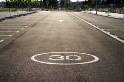 Κενός χώρος στάθμευσης για τα αυτοκίνητα Στοκ Εικόνες