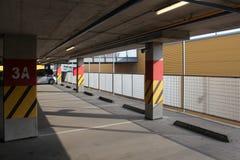 κενός χώρος στάθμευσης μερών περιοχής Στοκ εικόνα με δικαίωμα ελεύθερης χρήσης