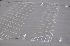 κενός χώρος στάθμευσης μερών Στοκ Εικόνες