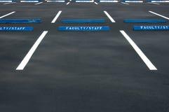 κενός χώρος στάθμευσης μερών Στοκ Φωτογραφία
