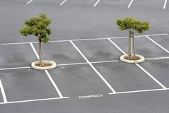 κενός χώρος στάθμευσης μ&ep Στοκ Εικόνες