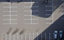 κενός χώρος στάθμευσης Στοκ Φωτογραφίες