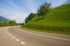 κενός δρόμος επαρχίας Στοκ εικόνες με δικαίωμα ελεύθερης χρήσης