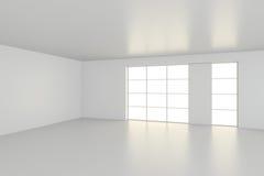 Κενό άσπρο εσωτερικό γραφείο δωματίων τρισδιάστατη απόδοση Στοκ φωτογραφία με δικαίωμα ελεύθερης χρήσης
