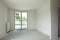 Κενό άσπρο εσωτερικό δωματίων στοκ φωτογραφίες
