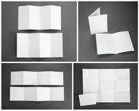 Κενό άσπρο διπλώνοντας ιπτάμενο εγγράφου Στοκ Εικόνες