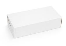 Κενό άσπρο κουτί από χαρτόνι Στοκ εικόνα με δικαίωμα ελεύθερης χρήσης