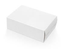 Κενό άσπρο κουτί από χαρτόνι Στοκ Φωτογραφίες