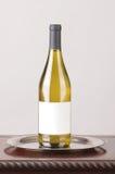 κενό άσπρο κρασί ετικετών μ&p Στοκ Εικόνες
