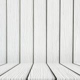 Κενό άσπρο ξύλινο υπόβαθρο πατωμάτων Στοκ φωτογραφία με δικαίωμα ελεύθερης χρήσης