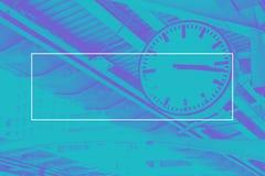 Κενό άσπρο πλαίσιο στον μπλε τόνο διδύμου του ρολογιού στη μεταφορά, Μ Στοκ φωτογραφίες με δικαίωμα ελεύθερης χρήσης