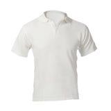 Κενό άσπρο πρότυπο πουκάμισων πόλο ατόμων Στοκ φωτογραφία με δικαίωμα ελεύθερης χρήσης