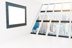 Κενό άσπρο δωμάτιο πλαισίων Στοκ εικόνα με δικαίωμα ελεύθερης χρήσης