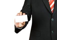 κενό άτομο εκμετάλλευσης επαγγελματικών καρτών Στοκ Εικόνες