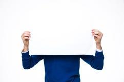 κενό έγγραφο ατόμων εκμετά&l Στοκ φωτογραφία με δικαίωμα ελεύθερης χρήσης