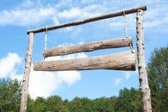 Κενό έμβλημα σανίδων αγροτικών εισόδων ξύλινο Στοκ εικόνες με δικαίωμα ελεύθερης χρήσης