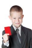 κενό αγόρι που κρατά λίγα Στοκ εικόνες με δικαίωμα ελεύθερης χρήσης