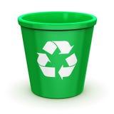 Κενό ανακύκλωσης δοχείο Στοκ Εικόνες