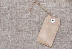 Κενό αναδρομικό ύφος ετικεττών sackcloth Στοκ φωτογραφίες με δικαίωμα ελεύθερης χρήσης