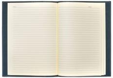 Κενό ανοικτό σημειωματάριο Στοκ εικόνες με δικαίωμα ελεύθερης χρήσης
