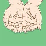 Κενό ανοικτό σχέδιο χεριών Στοκ Εικόνες