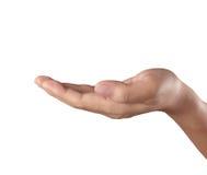 Κενό ανοικτό χέρι που απομονώνεται στοκ εικόνα